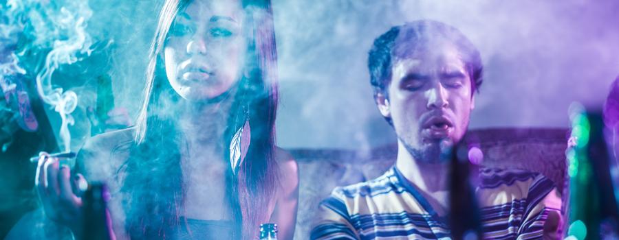 Combinaison d'alcool et de cannabis