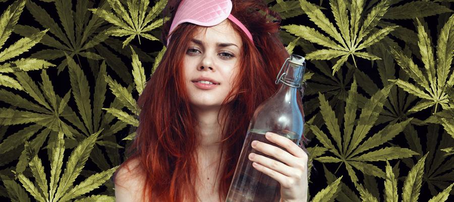 gueule de bois herbe cannabis fumée