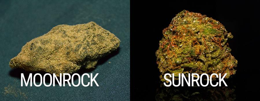 Moonrocks Sunrocks tamponnant la marijuana