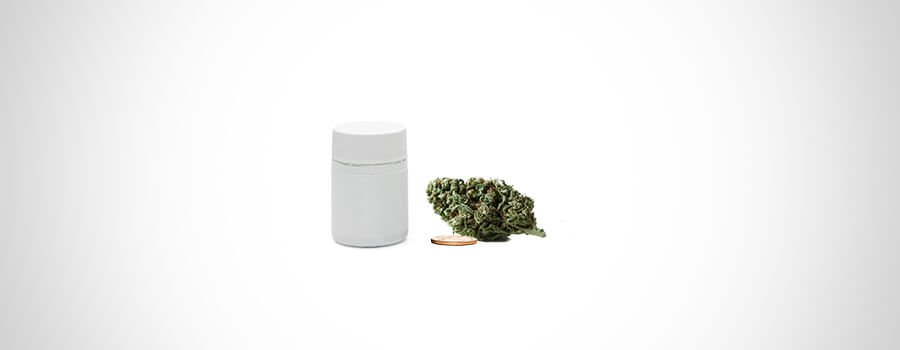 Shaker Method Coin And Bottle For Grinding Cannabis
