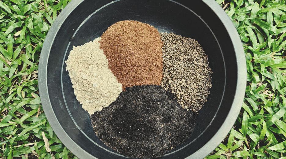 Comme mélange bio pour la terre avec de la farine d'os et du fumier de poulet