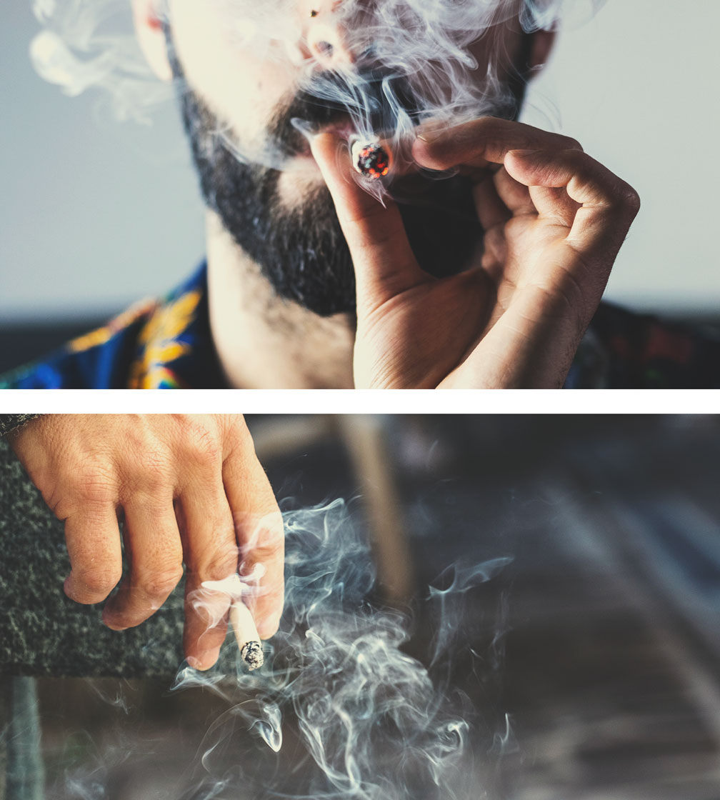 Fumée du cannabis vs du tabac