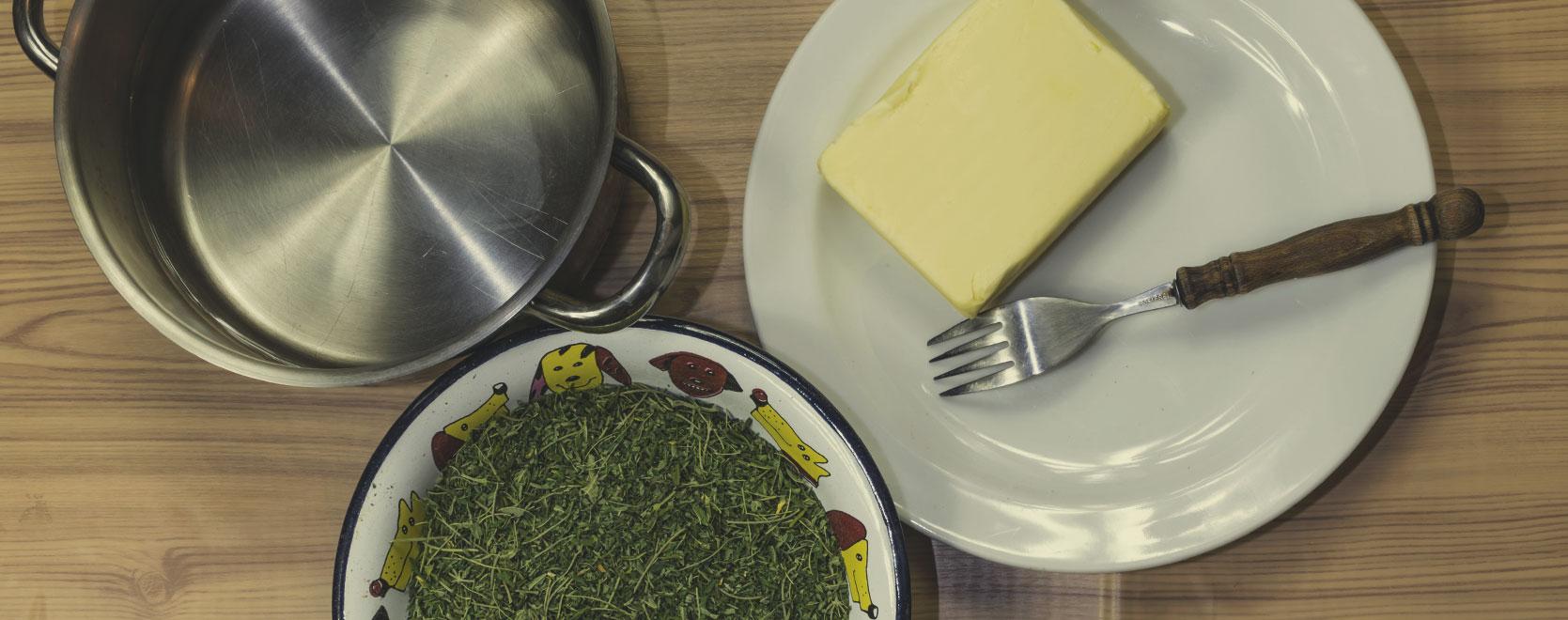 Endroit Pour Cuisiner, Acheter Tous Les Ingrédients Et Hacher Votre Matière De Base