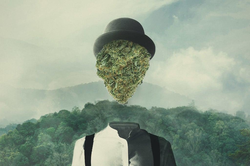 datant d'une personne qui fume de l'herbe